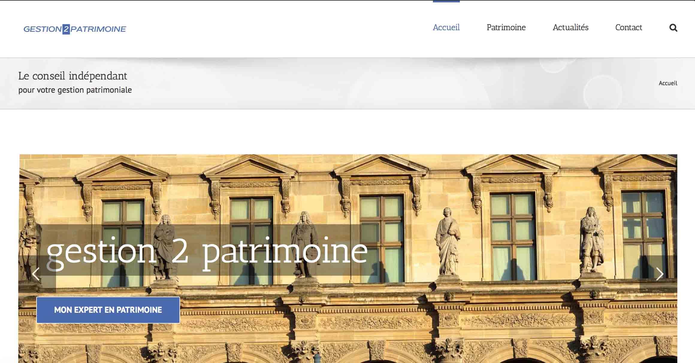 site internet gestion de patrimoine
